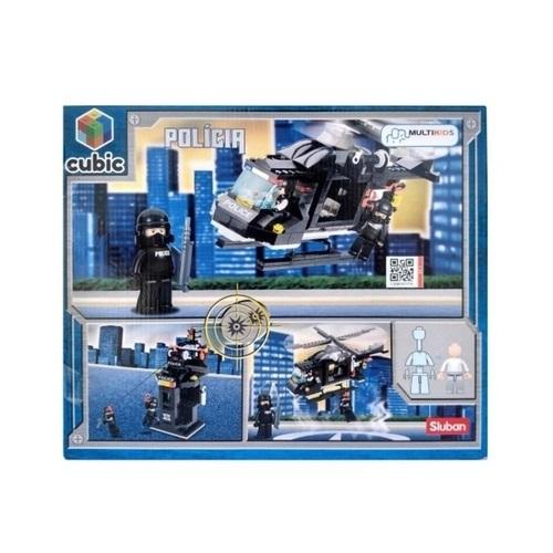 Blocos de Montar Polícia Helicóptero de Combate 219 Peças - Multikids - BR1197