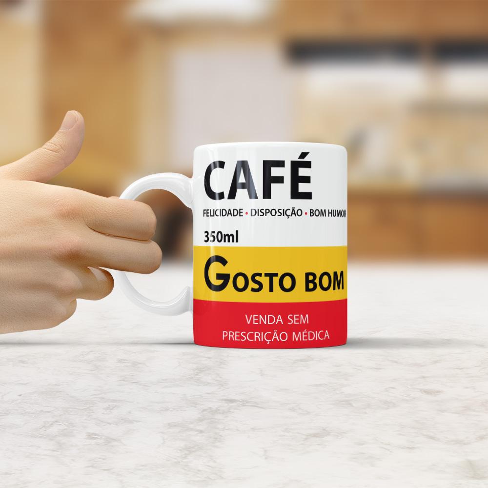 Caneca - Café (Sátira de Remédios)