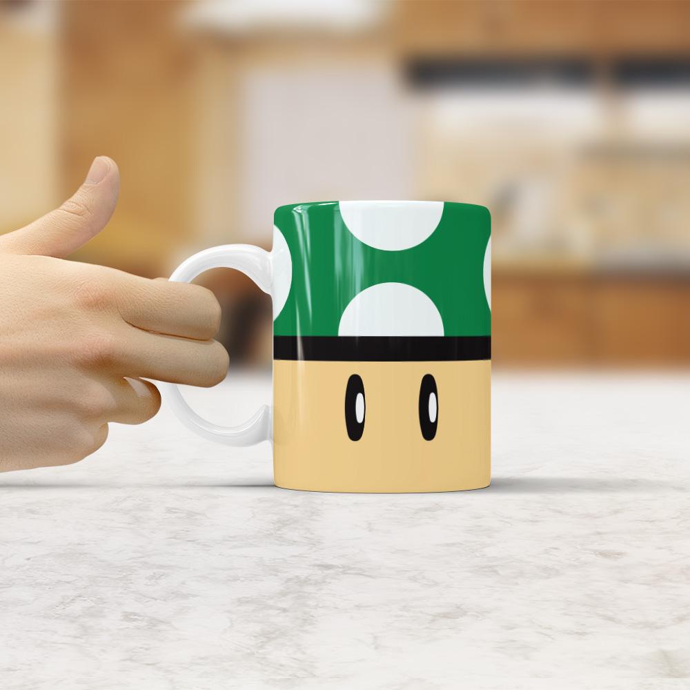 Caneca Mushroom 1-Up Super Mario Bros