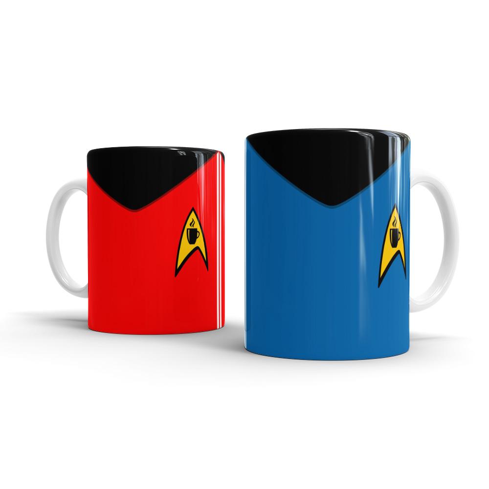 Caneca Star Trek Jornada nas Estrelas Vermelha