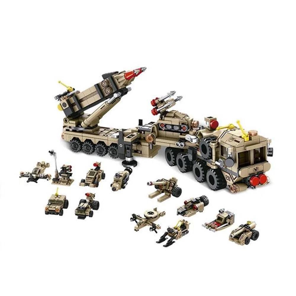 Blocos de Montar Cubic Modelo Exército 12 em 1 com 549 Peças - Multikids - BR1096