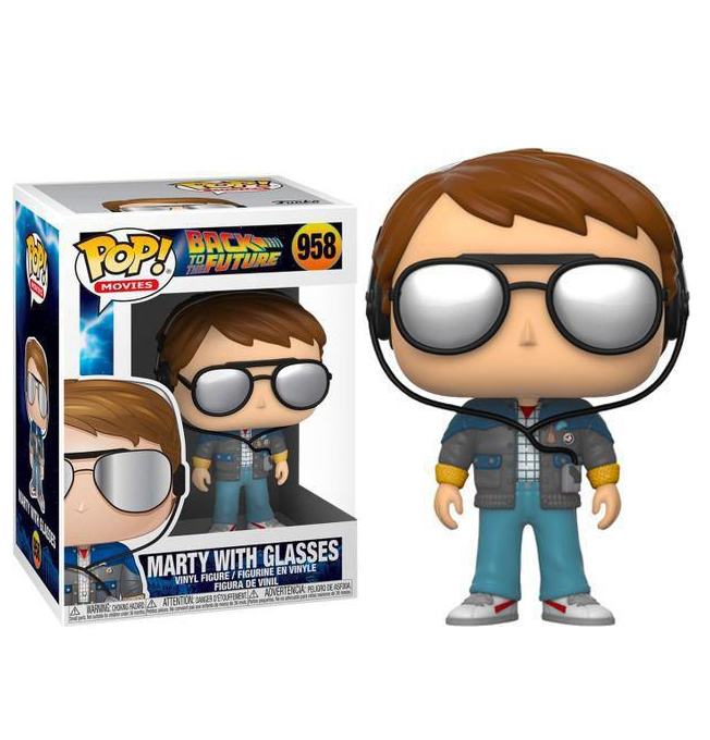 FUNKO POP! BACK TO THE FUTURE MARTY WITH GLASSES #958