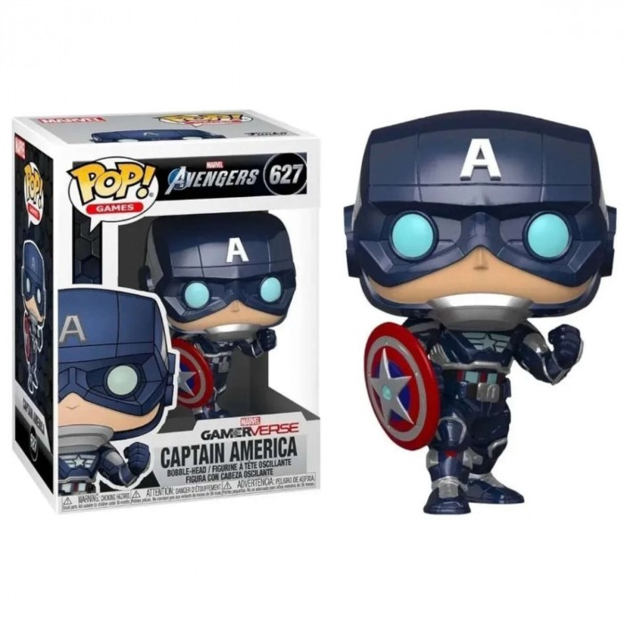 FUNKO POP! MARVEL AVENGERS GAME CAPTAIN AMERICA (STARK TECH SUIT) #627