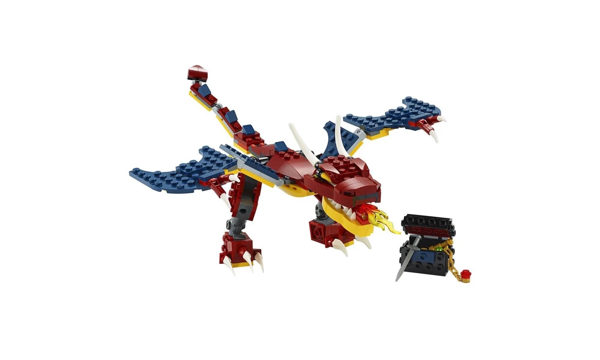 LEGO Creator - Modelo 3 Em 1: Dragão de Fogo 31102