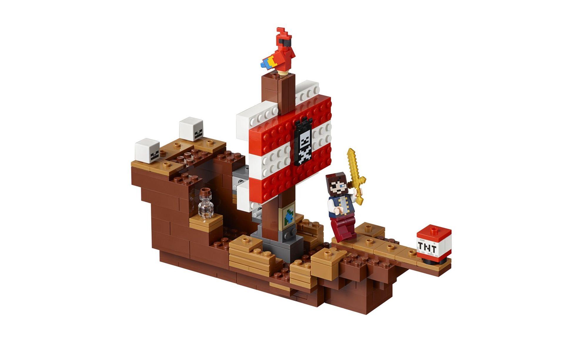 LEGO Minecraft - A Aventura do Barco Pirata 21152