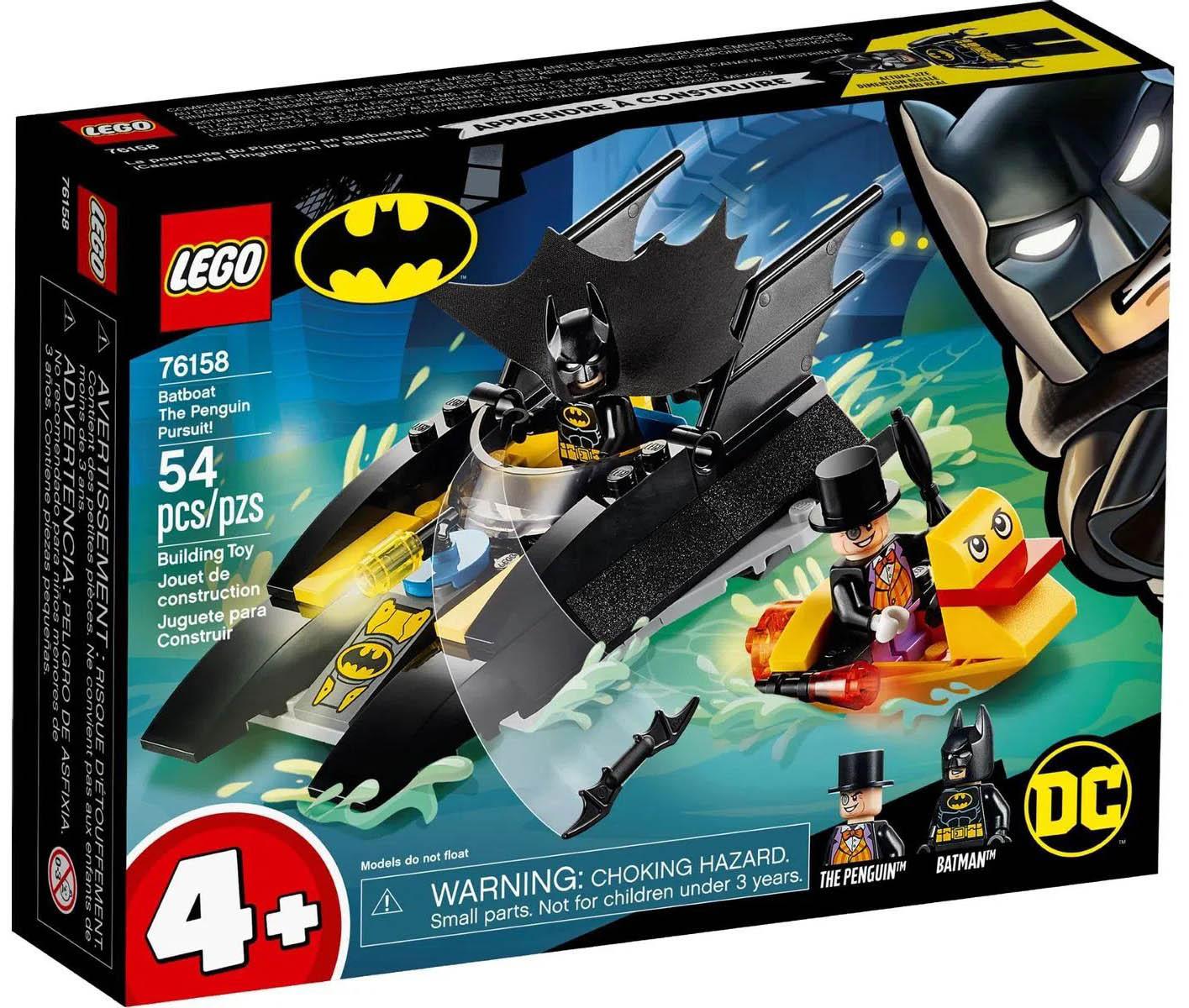 LEGO Super Heroes DC Comics Perseguição ao Pinguim no Batbarco 76158