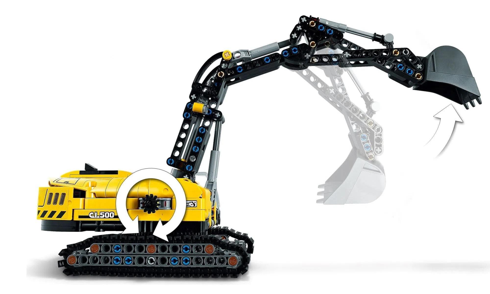 LEGO Technic 2 Em 1 - Escavadeira para Trabalhos Pesados 42121