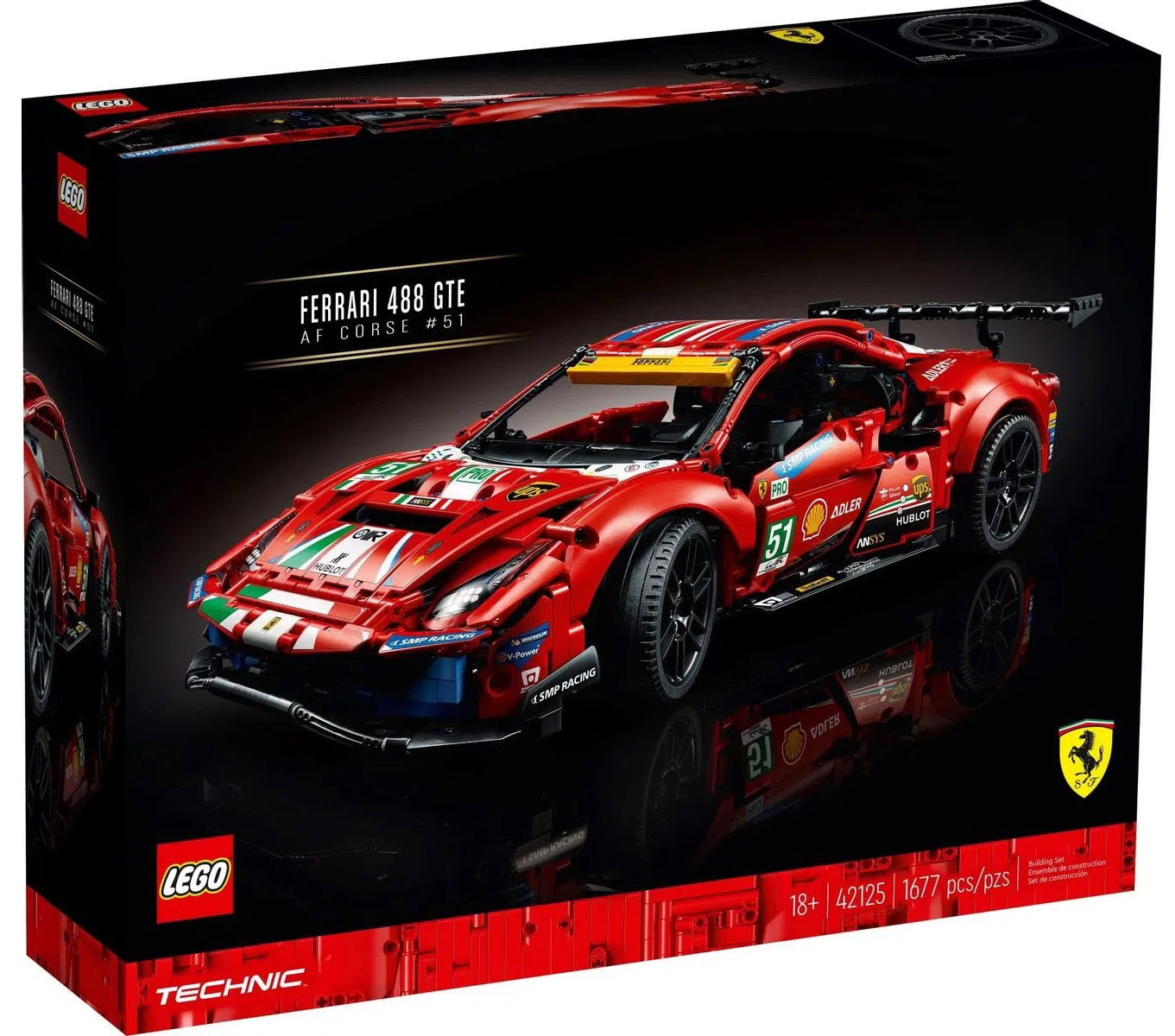 LEGO Technic Ferrari 488 GTE AF Corse #51 42125