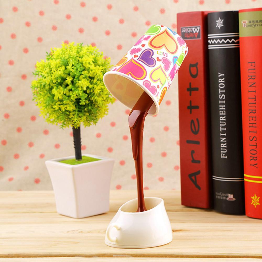 Luminária De Mesa Criativa Copo De Chocolate Derramando de Led com cabo USB