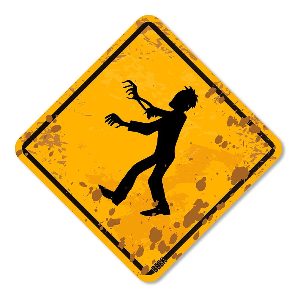 Placa Decorativa Zombies