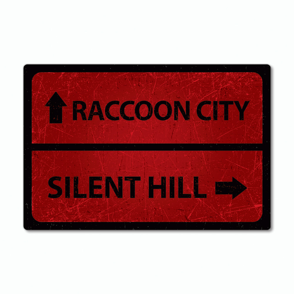 Placa Decorativa - Resident Evil Raccoon City e Silent Hill