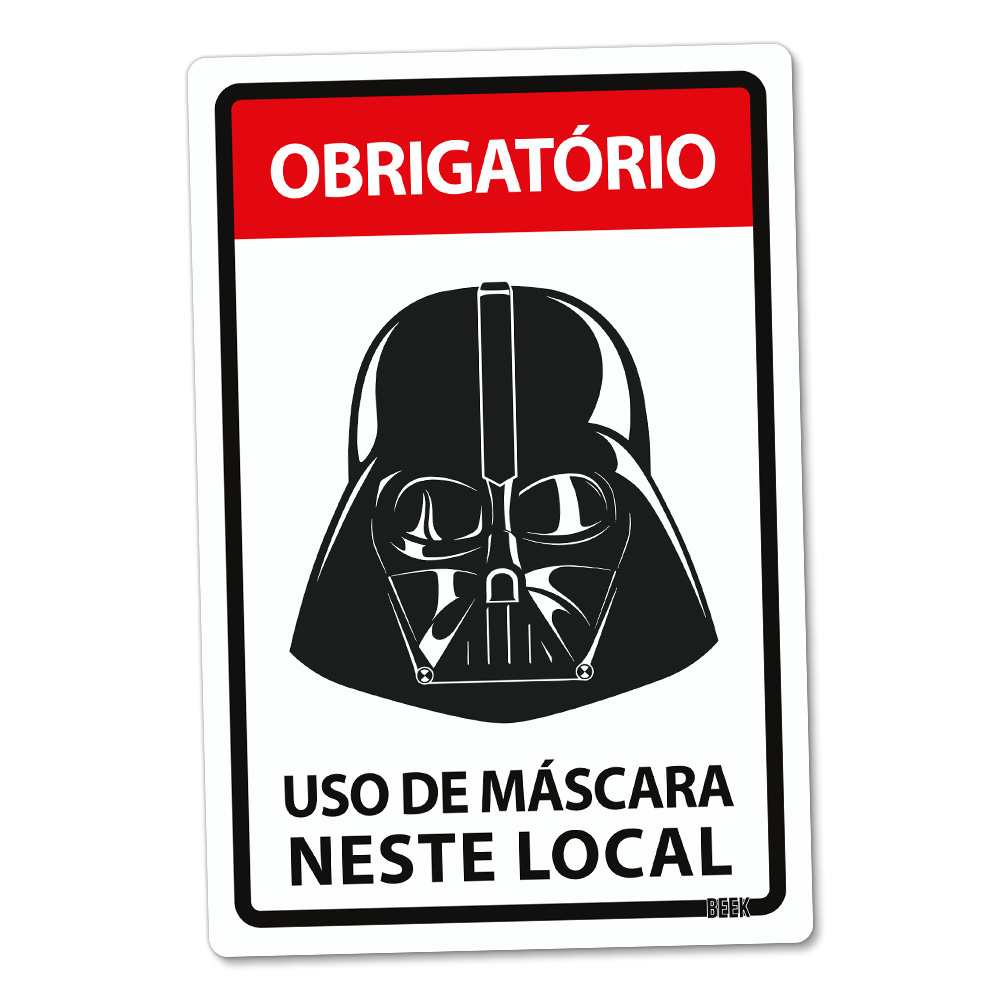 Placa Decorativa - Use Máscara Star Wars Darth Vader