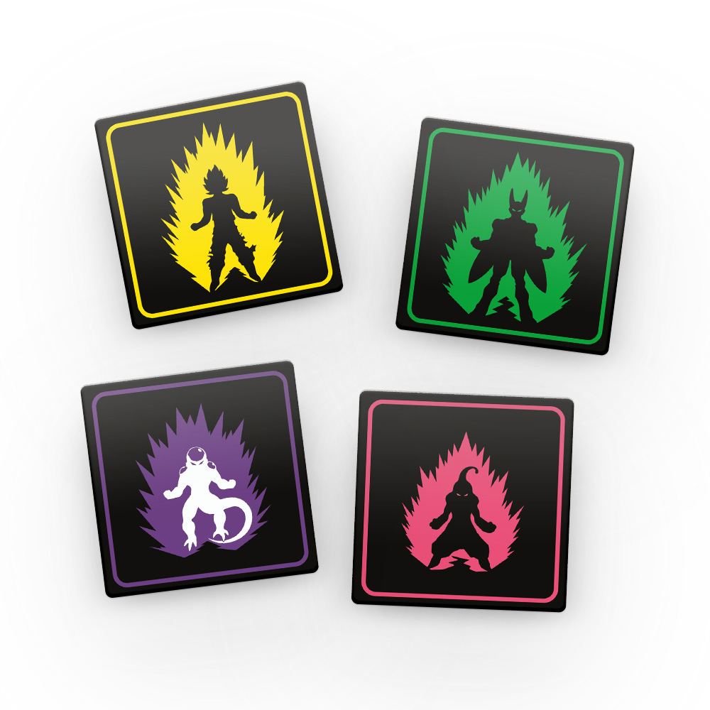 Porta Copos de Acrílico - Guerreiros Dragon Ball Z