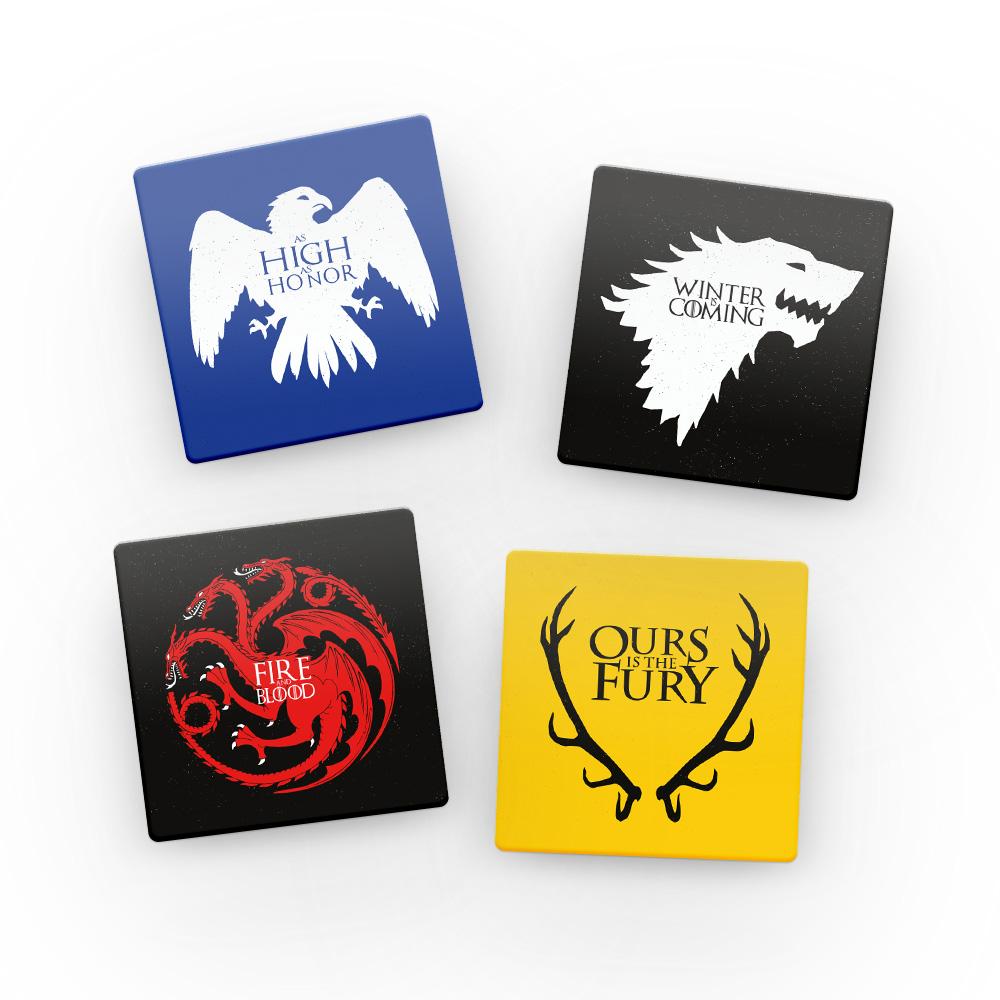 Porta Copos de Acrílico Winter is Coming - Game of Thrones
