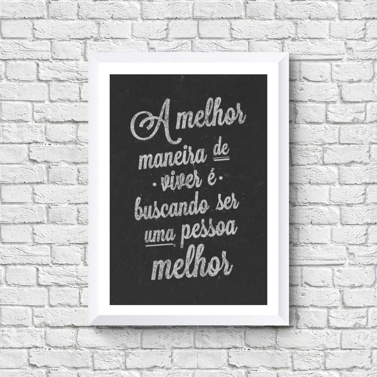 Quadro com Frases Viver