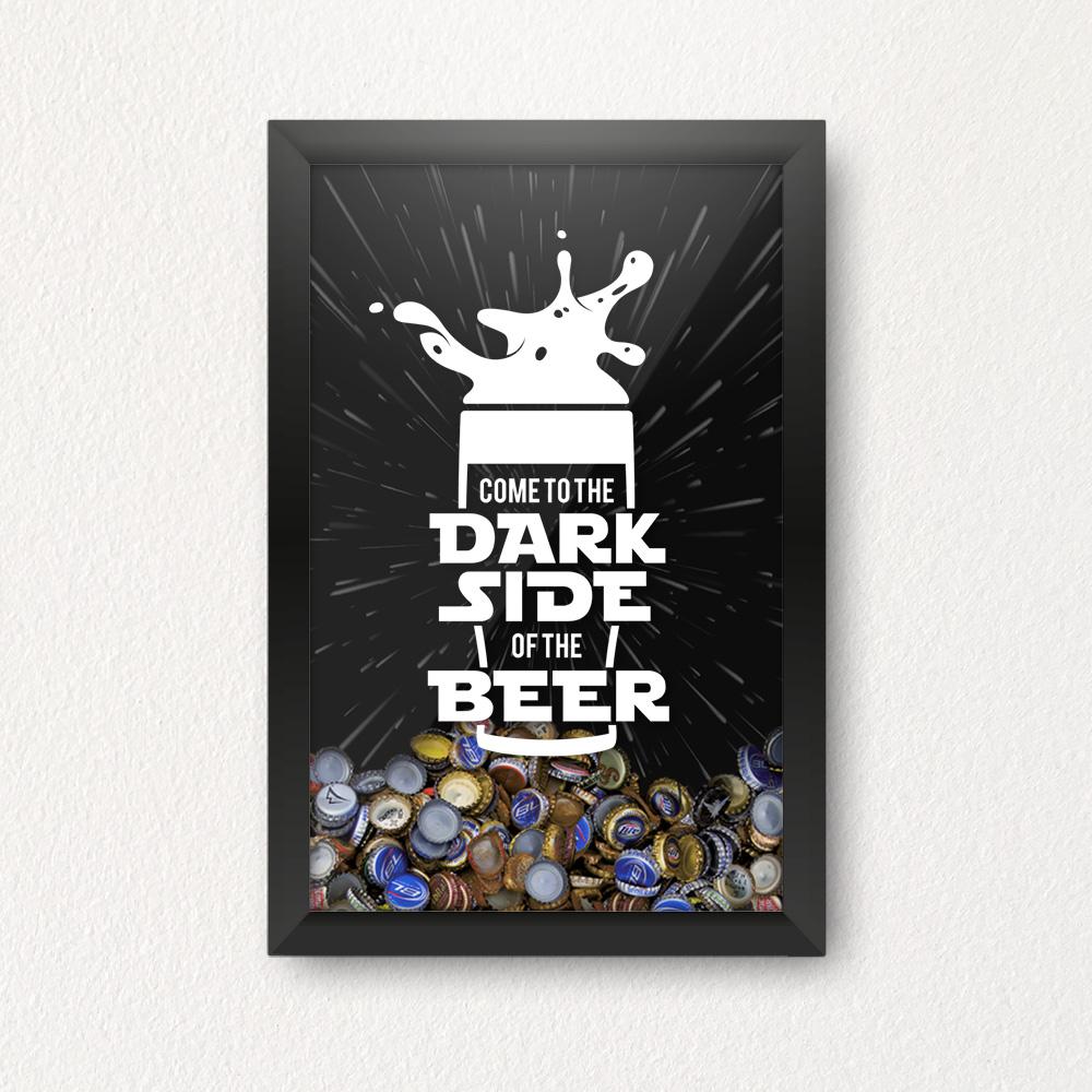 Quadro Porta Tampinhas - Dark Side Beer Star Wars
