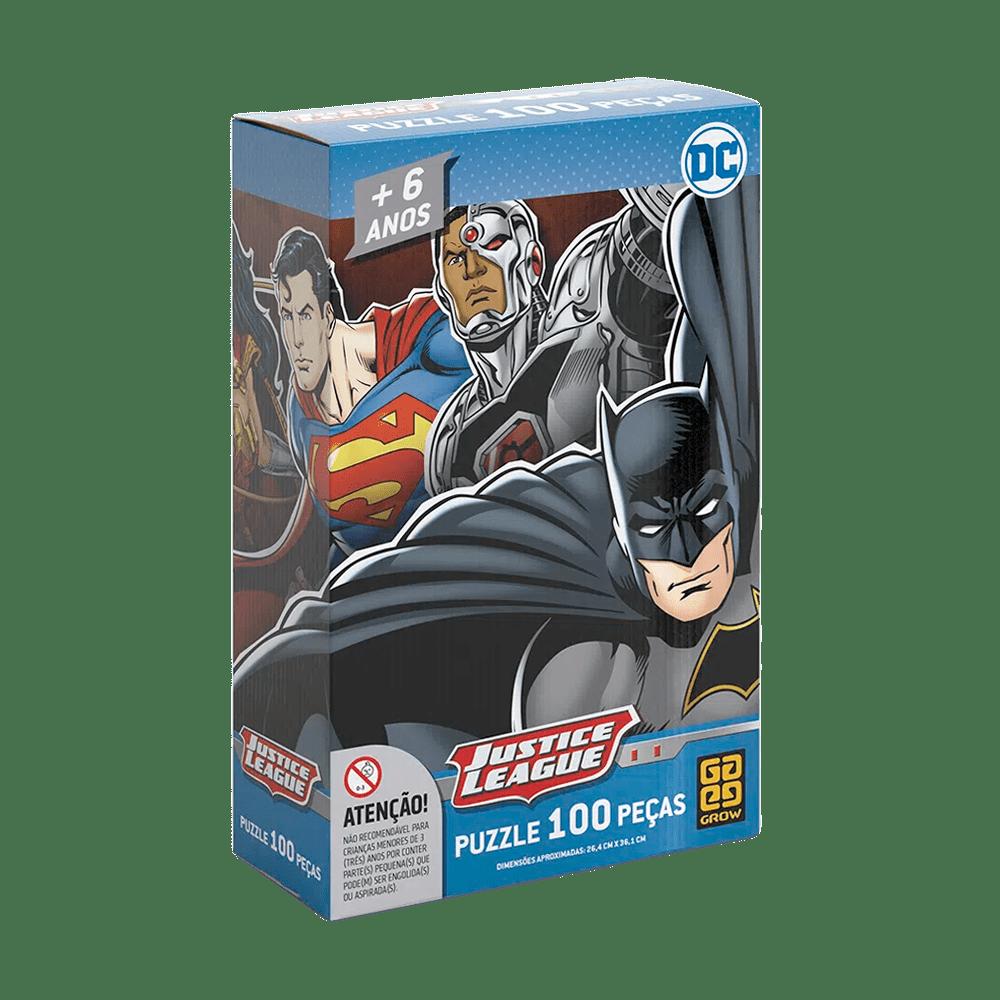 Quebra-Cabeça Puzzle 100 peças Liga da Justiça
