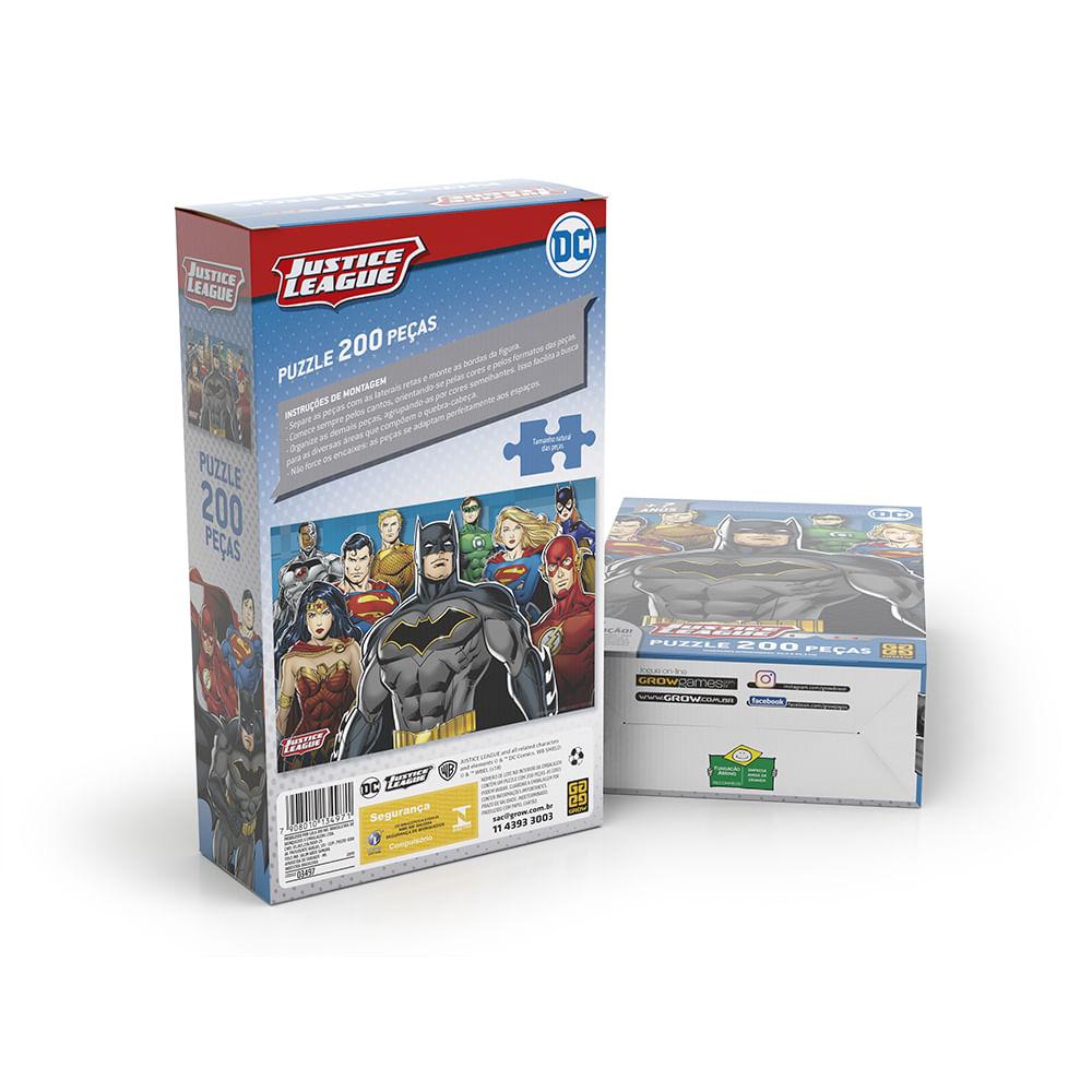 Quebra-Cabeça Puzzle 200 peças Liga da Justiça
