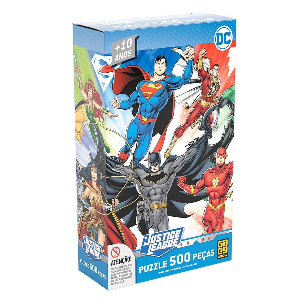 Quebra-Cabeça Puzzle 500 peças Liga da Justiça