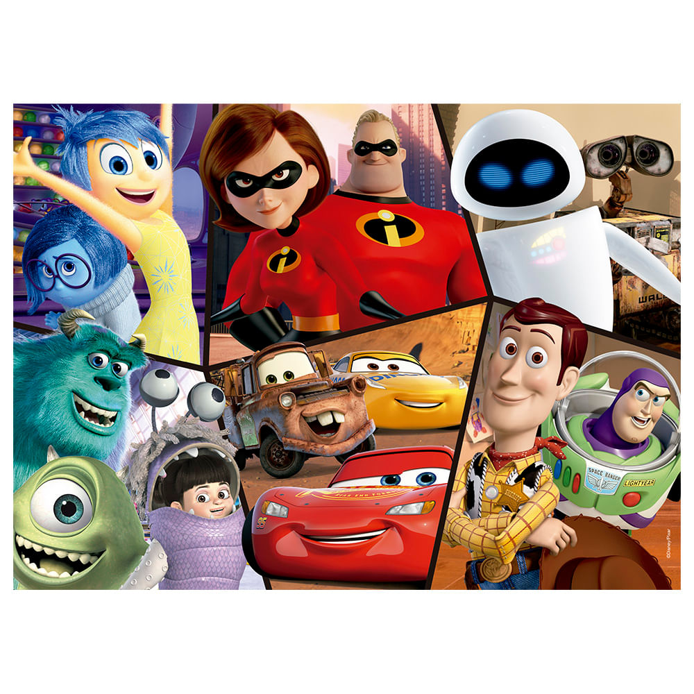Quebra-Cabeça Puzzle 60 peças Pixar