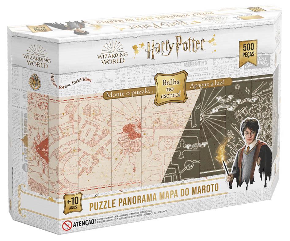 Quebra-Cabeça Puzzle 500 peças Panorama Harry Potter Brilha no Escuro