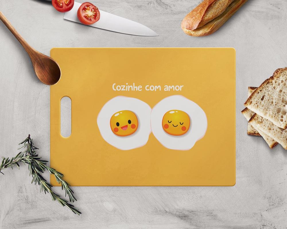 Tábua de Carne de Vidro 35x25cm - Cozinhe com Amor