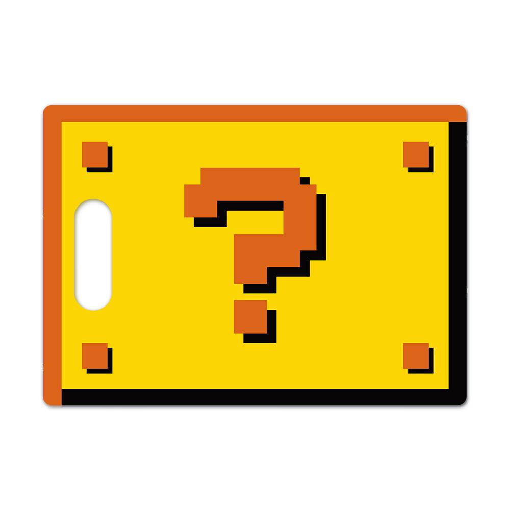 Tábua de Carne de Vidro 35x25cm - Interrogação 8 Bits Super Mario Bros