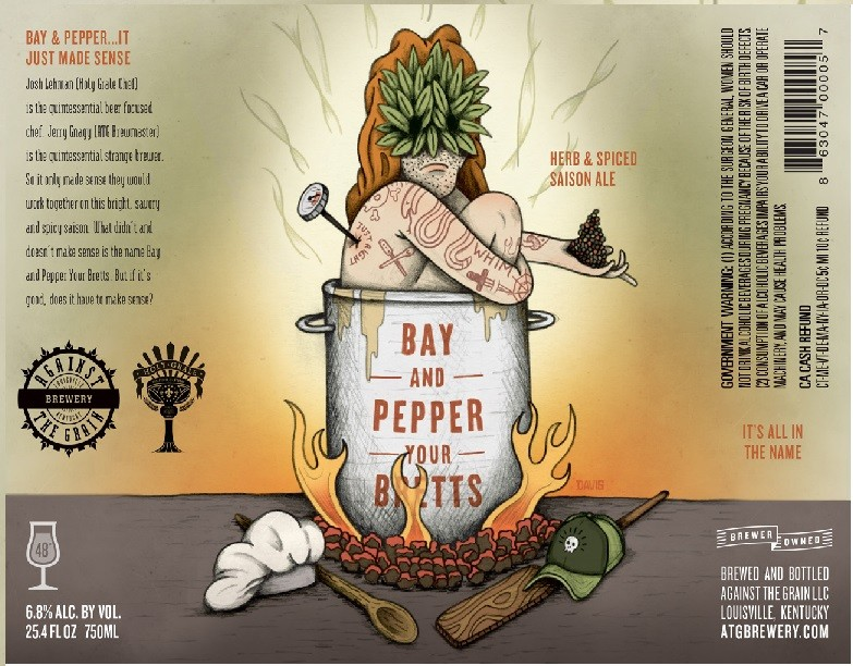 Against The Grain Bay & Pepper Your Brett 750ml Saison