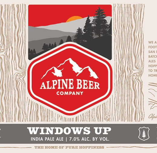 Alpine Windows Up 355ml IPA