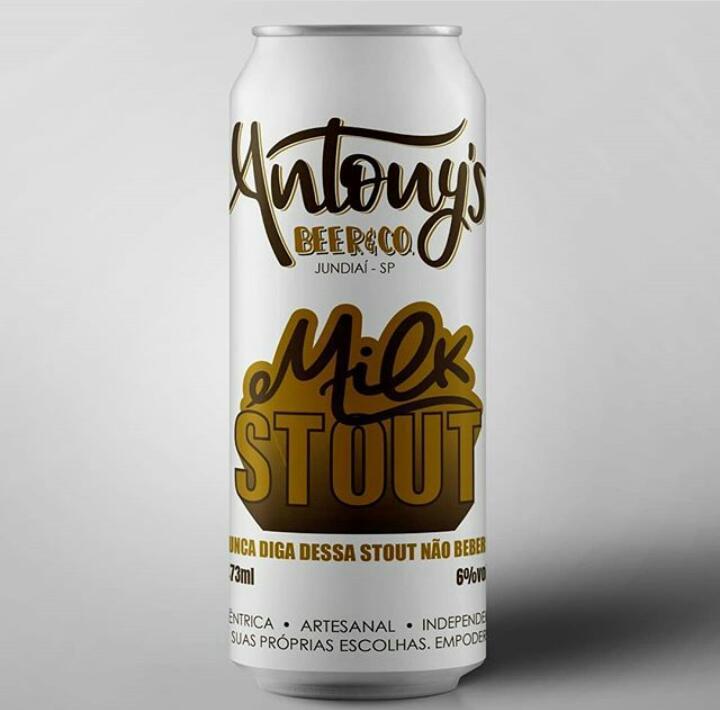 Antony's Beer & Co. Milk Stout  Lata 473ml