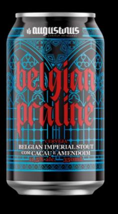 Augustinus Belgian Praliné Lata 350ml Belgian Imperial Stout c/ Cacau e Amendoim