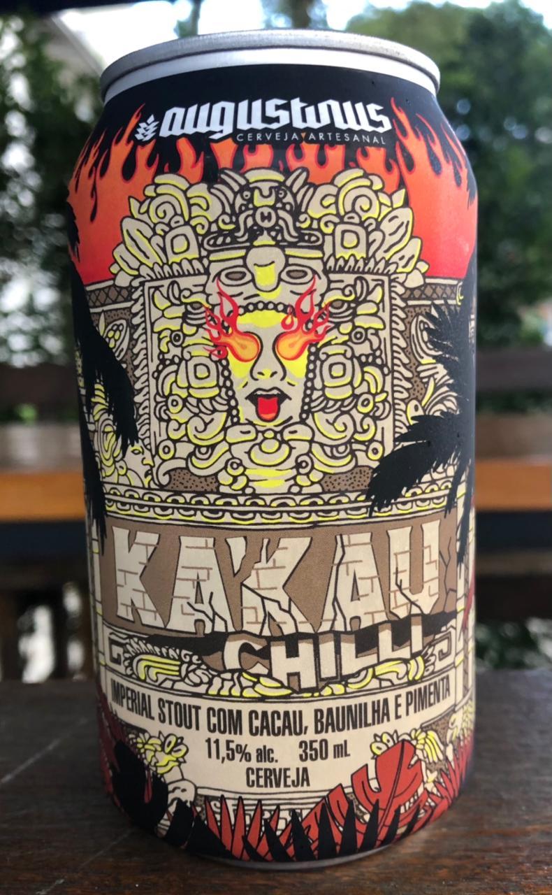 Augustinus Kakau Chilli Lata 350ml - Imperial Stout com Cacau, Baunilha e Pimenta