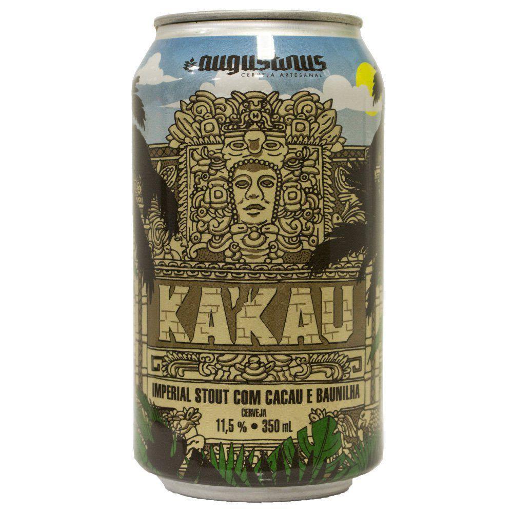 Augustinus Kakau Lata 350ml - Imperial Stout com Cacau e Baunilha