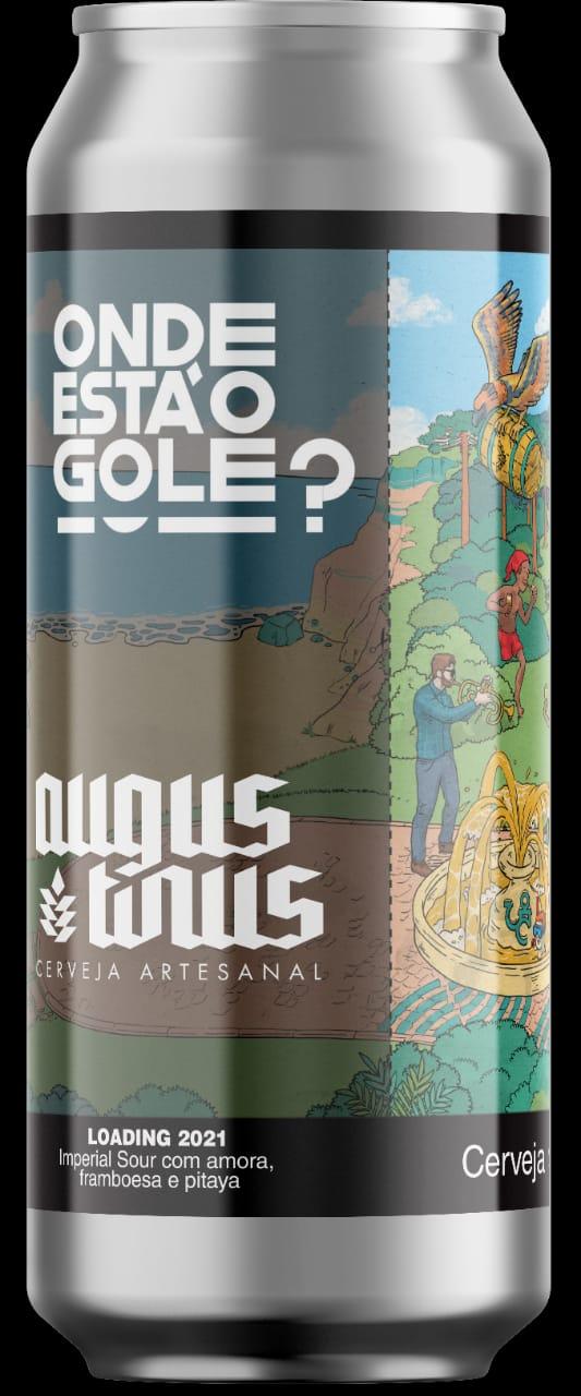 Augustinus Onde Está o Gole Loading 2021 Lata 473ml Imperial Sour com amora, framboesa e pitaya
