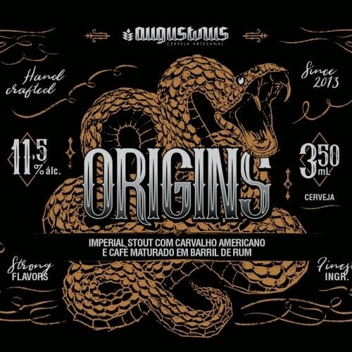 Augustinus Origins Imperial Stout com Carvalho Americano e Café Maturado em Barril de Rum Lata 350ml