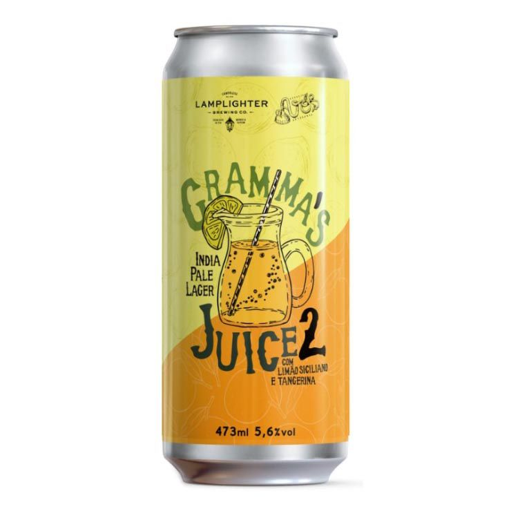 Avós / Lamplighter Gramma's Juice 2 Lata 473ml IPL com Limão Siciliano e tangerina