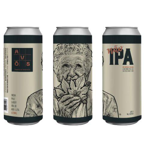 Avós Não Ipa #1Dona Olga - Lata 473ml - India Pale Lager