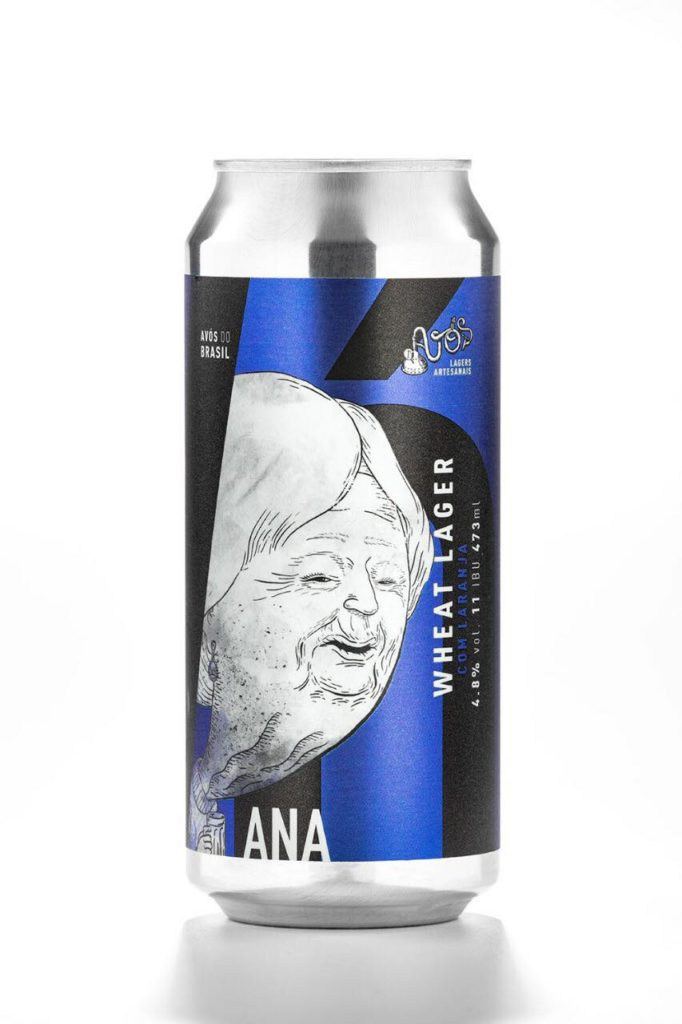 Avós Vó Ana Wheat Lager Lata 473ml