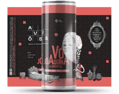 Avós Vó Joaquina Lata 355ml Double India Pale Lager