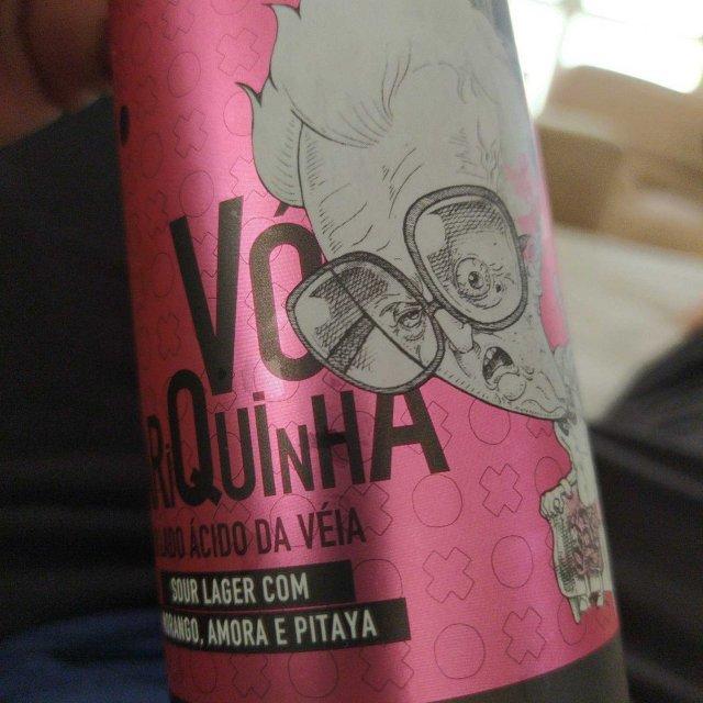 Avós Vó Mariquinha O Lado Ácido da Véia Sour Lager com Morango, Amora e Pitaya Lata 355ml