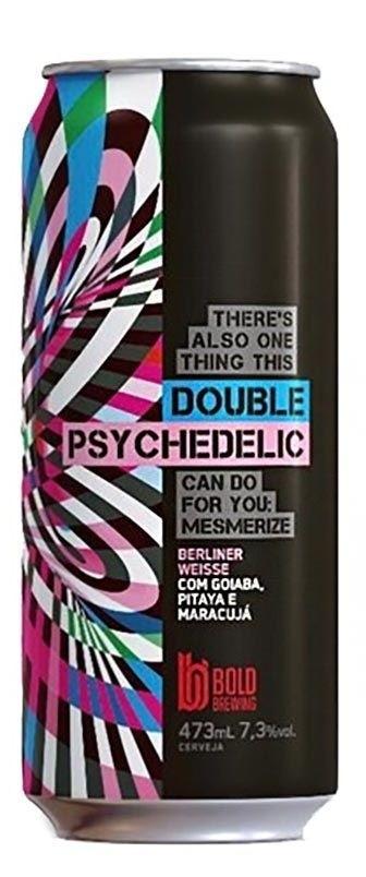 Bold Double Psychedelic Lata 473ml Berliner Weisse com Goiaba, Pitaya e Maracujá