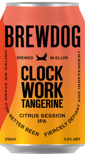 Brewdog Clockwork Tangerine Lata 330ml Session IPA Com Tangerina