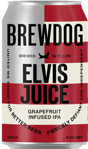 Brewdog Elvis Juice Lata 330ml IPA com Grapefruit