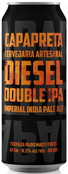 Capa Preta Diesel Double IPA Lata 473ml