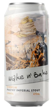 Carioca Brewing / Strange brewing Wake n' Bake Lata 473ml Imperial Pastry Stout com Banana, Canela e Lactose