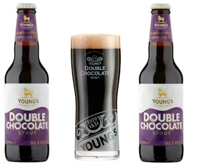 Combo 2 Garrafas Youngs Chocolate Stout + Copo