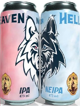 Combo 2 latas Cervejaria Maila Heaven Nor Hell IPA 473ml + NEIPA 473ml