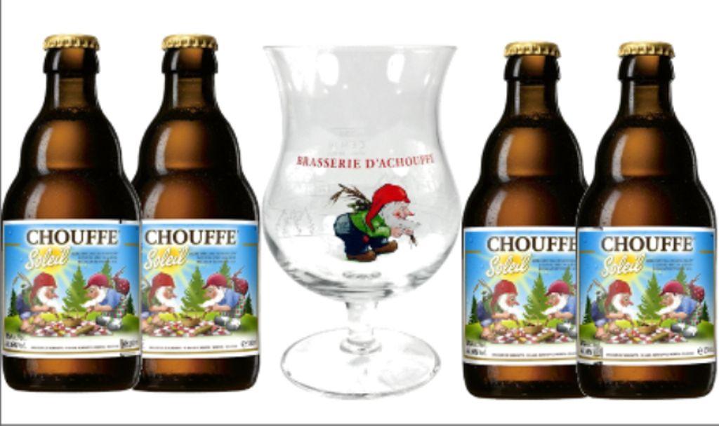 Combo Chouffe Soleil 4 Garrafas 330ml + Taça