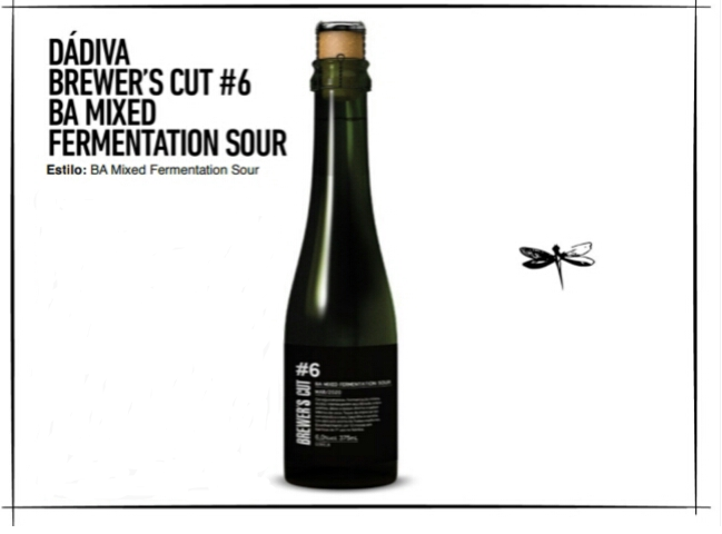 Dádiva Brewer's Cut #6 Mixed Fermentation Sour BA garrafa 375ml