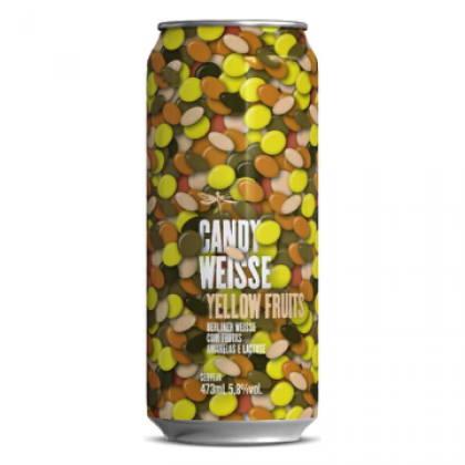Dádiva Candy Weisse Yellow Fruits Lata 473ml Berliner Weisse com Frutas Amarelas e Lactose